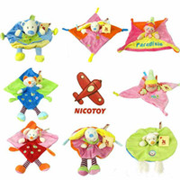 Cotton baby cuddle toy - Baby plush toy Cuddle cloth Nicotoy toy with Rattle Soft Plush Baby Toy CM CE MARK Mix Orders