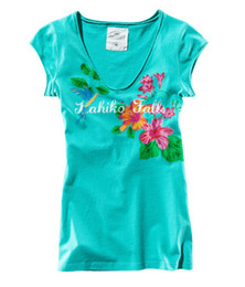 Wholesale Emerald green floral print T shirt