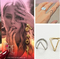 "Band Rings Celtic Women's New Hotselling ashion Wire Chevron Knuckle Gold Silver Tone Rings ""V"" Shape Midi Ring Women Jewelry ZY"
