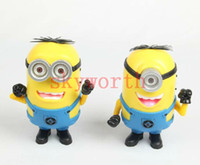 Wholesale Cute Minions Portable Despicable Me Mini HIFI Loud Speaker MP3 Player Amplifier Micro SD TF Card USB Disk Computer Minions Speakers