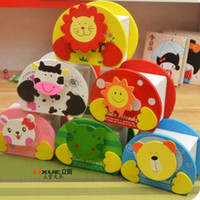 Wholesale change jar Wooden cartoon animal piggy bank Creative gift Cute Christmas gift