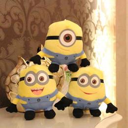 Nouvelle arrivée yeux Doll Minions Dave Stewart Jorge Despicable Me Minion peluche jouets 3D 18cm EMS T90174