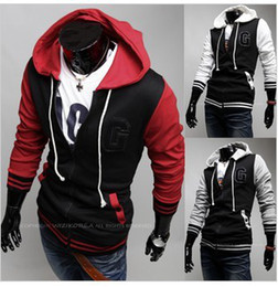 Free shipping! Men's Fashion Letters embroidered hooded Upper outer garment AQW014