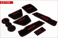 36031   FORD focus 2009-2011 PVC door gate slot pad mat, tank gasket , cup mat pad, 7pcs lot, free shipping,auto accessories car trim