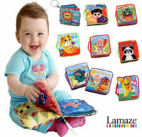 Cloth baby touch books - Promotion price typels Lamaze baby cloth stereo touch books early education toy T90186