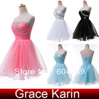 Wholesale New GK Strapless Formal Prom Gown Ball Girl s Mini Short Homecoming Cocktail Party Dresses CL4503