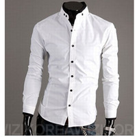 Casual Men Cotton blends Hot New Shirts Fashion Slim Men Casual Shirts Long Sleeve Cotton Shirts For Men tshirts Black Shirts White Shirts Cardigan Christmas M48