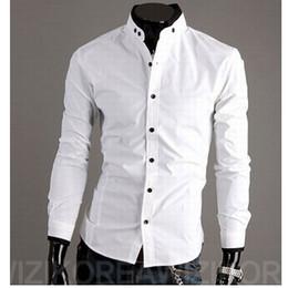 Hot New Black White Shirts Fashion Slim Men Casual Shirts Long Sleeve Cotton Shirts For Men tshirts Cardigan Christmas M48