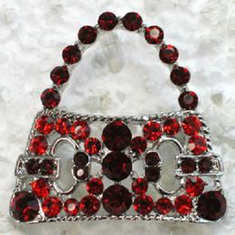 Wholesale Crystal Rhinestone Female Handbag Pin Brooch Fashion jewelry gift C799