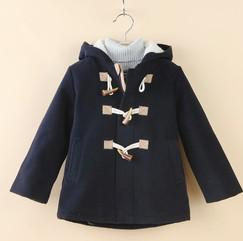 Wholesale New Boys Coats Leisure And Comfortable Baby Boys Woollen Hooded Windbreaker With Feleece Jackets Warm Clothing Chindren Clothing