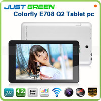 Wholesale 2PCS Colorfly E708 Q2 Inch IPS screen Quad Core Allwinner A31S GHz Light Weight Pocket tablet pc GB Ram GB Rom