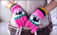 Wholesale Womens Cute Christmas Five Fingers Gloves With Reindeer Mixed Order Over Ship By DHL