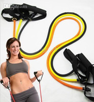 Best Tensile resistance bands exercise bands Newest T25 Focus On With Rope Hot Body Fitness Slimming Items Free DHL 50pcs lot