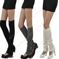 Wholesale 2013 New Arrival Women s Fashion Knit Crochet Winter Leg Warmer Leggings Socks