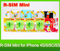 Wholesale New RSIM Mini R SIM Mini R SIM Mini thin film unlock card for i4S C S IOS Supported DHL Fast