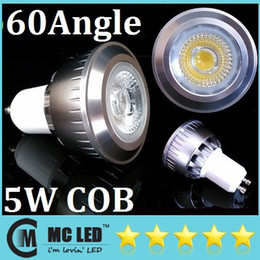 COB 5W 60 Beam Angle Led GU10 Lights Bulb 400 Lumens Warm Pure Cool White E27 E26 B22 MR16 Led Spotlights Lamp Warm Cool White Energy Saving