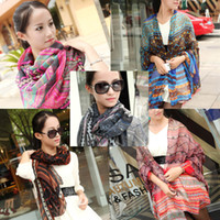 Wholesale BSI Fashion Women Ladies Bohemian Printed Scarves Shawls X CM M X110CM L