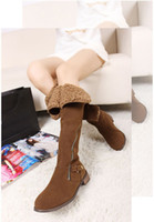 Half Boots Snow Boots Women Top Seller Knee High Boots Womens Cheap Walking Boots Long zipper design Thigh-High Boots Easy wear Platform Heel Snow Boots Size35-39