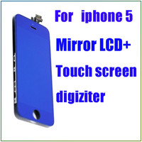 For Apple iPhone LCD Screen Panels  Super fast Hot in Nov. blue mirror LCD touch screen digiziter for iphone 5 mirror plating replacement screen for iphone 5 churchill