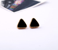 Stud Women's Alloy min order 10$.Pegasus ornaments still European and American fashion jewelry wholesale candy colored drip earrings multicolor optional triang