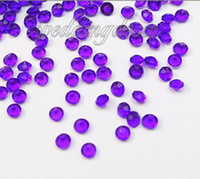 Wholesale High Quanlity Purple Faux Acrylic Crystal Diamond Confetti Table Scatter Wedding Favors Party Decoration