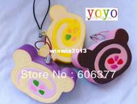PU PU fabric , fragrance SQUISHY BREAD SRS30 Cute cartoon SAN-X Rilakkuma cake Roll cell phone charm,small order, free shipping