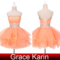 Grace Karin New Arrive Sexy Strapless Beaded Crystals Evenin...