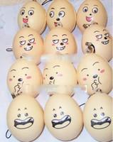 Wholesale cartoon soft emotional face egg squishy phone charm