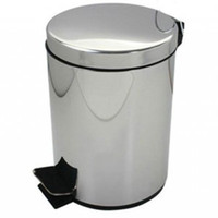 Wholesale 5l stainless steel rubbish bucket foot operated flip home luxury sundries storage bucket