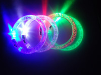 Wholesale Hot LED Colorful Flashing Bracelet Light Blinking Crystal Bracelets party and gifts L01