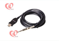 Wholesale New USB to Guitar Bass Link Instrument M Recorder Cable Adapter Converter For PC