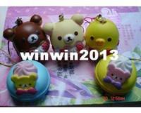 bear cupcakes - bear cupcake and bear macaroon Squishies Cell Phone Straps