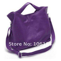Wholesale Best selling Freeshipping high quality shoulder bag Genuine cow leather handbag black red brown purple gray white khaki HQ L07Fr