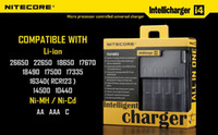 Wholesale 1PC Nitecore Battery Charger Universal Charger Nitecore I4 Charger Retail Package Mail