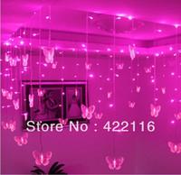 Wholesale Colors LED STRING Strip Festival Holiday LIGHTS m p Butterfly SMD V V EU US UK AU Plug PARTY Window Decoration