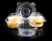 Wholesale Clear Plastic Cupcake Cake Wedding Shower Cake Muffin Dome Boxes Holders by Fedex