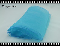 Wholesale Turquoise Table Runner quot x quot Organza Table Runners Ribbons Wedding Party Supply Decor Fabric