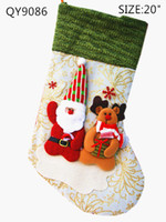 Wholesale 2013 NEW Christmas lovely stockings hanging indoor family festival Ornaments Multi color randomly deliver SHB156