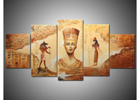 Wholesale handmade piece contemporary abstract decorative oil painting on canvas wall art egyptian picture for living room