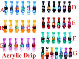 Wholesale E cig theread candy Drip Tip EGO Cowboy Metal Drip Tips Mouthpiece fo Threading Electronic Cigarette EGO Acrylic Candy Drip Tips