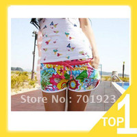 Wholesale swimwear high quality new fashion women hot floral shorts leisure beach shorts Hawaii shorts lady swimming trunks Y3400 Promdress
