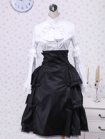 Wholesale White And Black Ruffles Cotton Lolita Blouse And Skirt sexy bikini r71 u10 Sg
