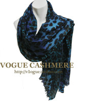 Wholesale Fashion new arrival leopard print gradient pure wool cashmere scarf muffler scarf cape air conditioning thermal