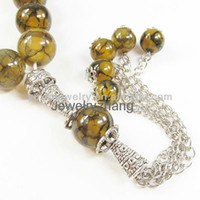 Wholesale 33 Dragon veins heaven eye agate beads Prayer beads Islamic Muslim Tasbih Allah YT94