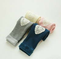Children's Thicker Leggings Love lace leggings with patch wi...