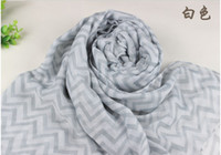 Wholesale FASHION CHEVRON INFINITY VOILE SCARF