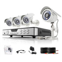 Wholesale ZMODO TVL CH H Full D1 Video DVR system CCTV home security system outdoor indoor ft Day Night Surveillance Camera GB HDD