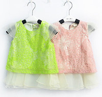 Children's Dresses NEW openwork lace chiffon dress summer st...