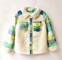 Children's Jackets Girls Lambs Wool Plaid Jacket Children's ...