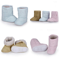 Wholesale Unisex Baby Infant Snow Boot Comfortable Warm Fur Lining Non slip Rubber Sole Children Winter Shoes For Months Baby DJF